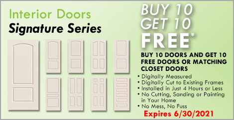 Signature Doors Buy 10 Get 10 FREE